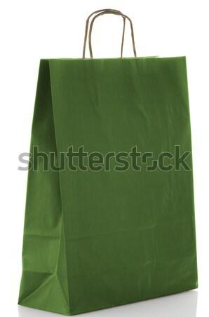 Green  paper bag Stock photo © homydesign