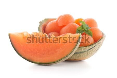 Meloen sappig witte vruchten achtergrond zomer Stockfoto © homydesign