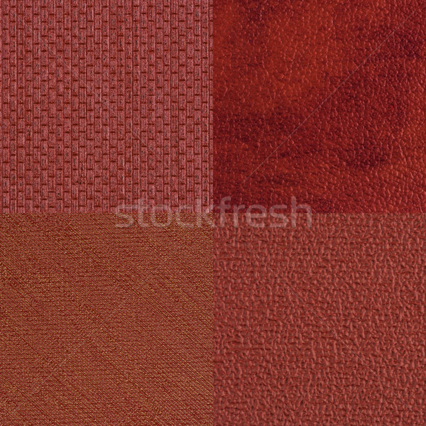 Set of red vinyl samples Stock photo © homydesign