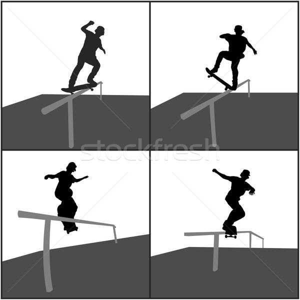 Skater Rail Stock photo © homydesign