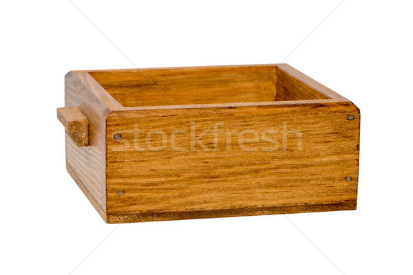 Small wooden boxe Stock photo © homydesign