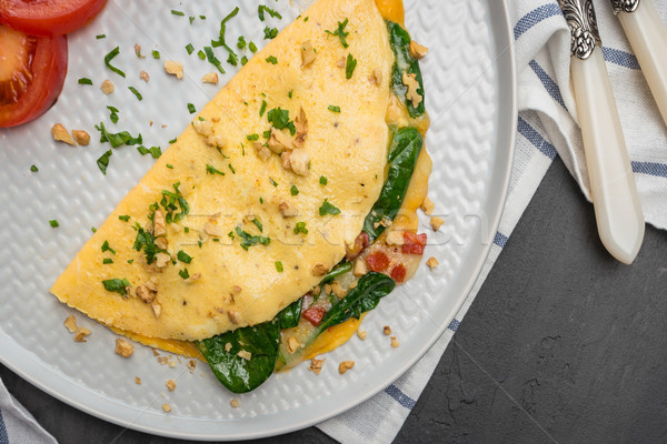 Omelet with vegetables Stock photo © homydesign