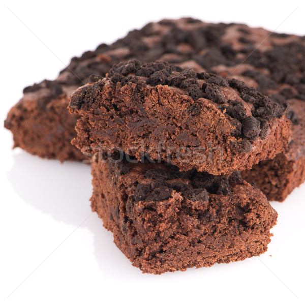 Chocolate brownie cake Stock photo © homydesign