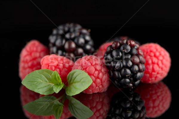 Blackberry and raspberry Stock photo © homydesign