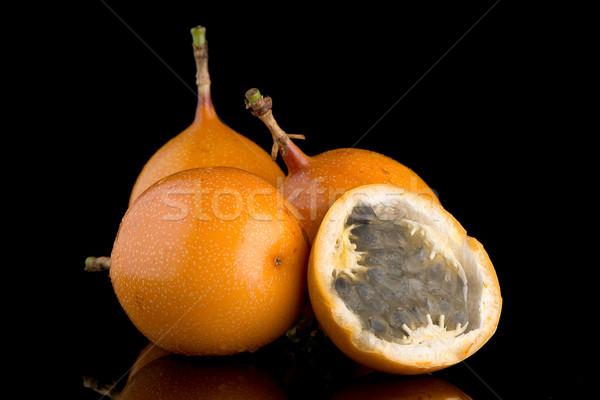 Tutku meyve gıda arka plan turuncu tropikal Stok fotoğraf © homydesign