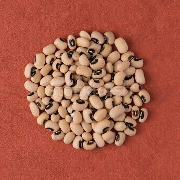 Circle of white beans Stock photo © homydesign
