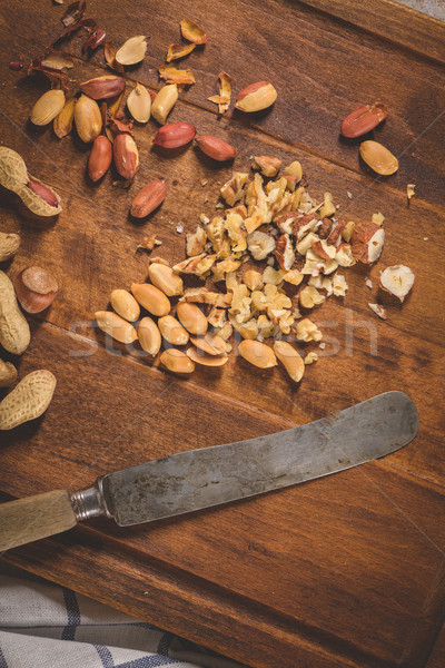 Dry fruits on wooden table Stock photo © homydesign