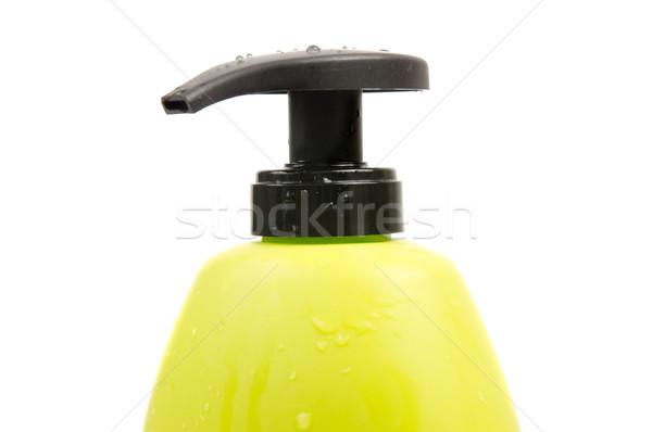 Verde shampoo bottiglia cap isolato Foto d'archivio © homydesign