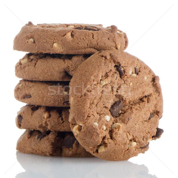 Homemade chocolate cookies Stock photo © homydesign