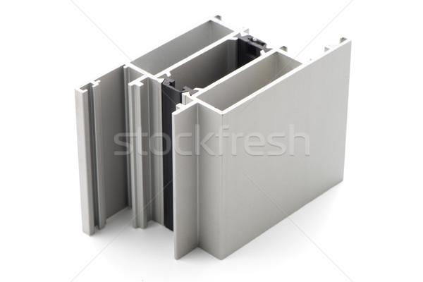 Aluminio perfil muestra aislado blanco edificio Foto stock © homydesign