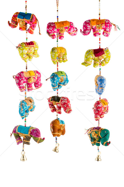 Wind chimes with bells Stock photo © homydesign