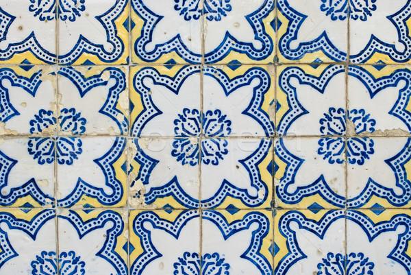 Portuguese glazed tiles 173 Stock photo © homydesign