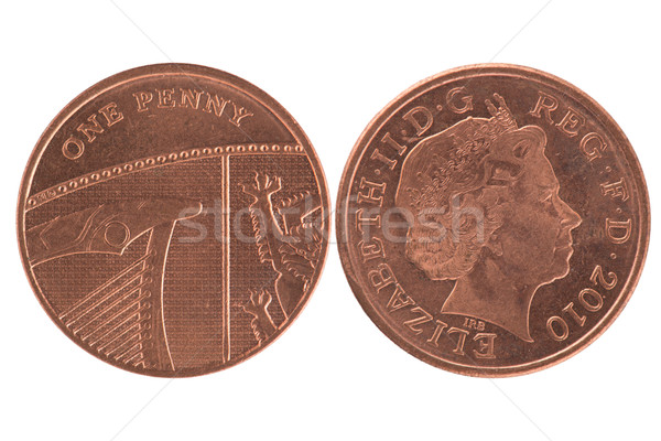One penny coin Stock photo © homydesign