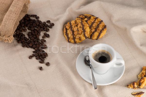 Witte koffiekopje koffie rond beker Stockfoto © homydesign