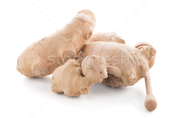 Ginger root and drizzler Stock photo © homydesign