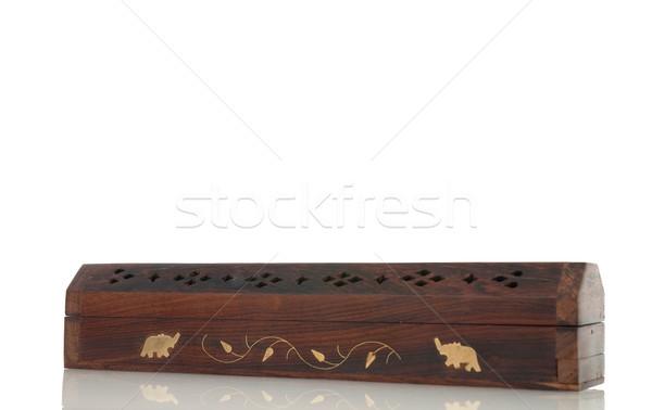 Wierook vak hout indian motieven geïsoleerd Stockfoto © homydesign