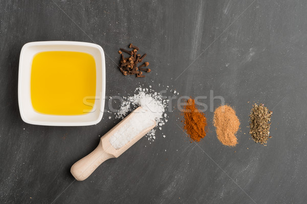 Cooking ingredients for mediterranean cuisine Stock photo © homydesign