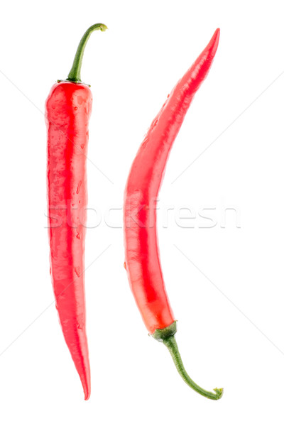 Red chilli peppers Stock photo © homydesign