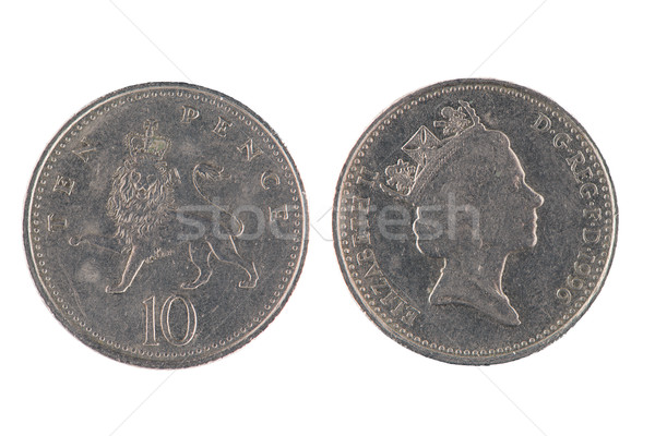 Ten Pence coin Stock photo © homydesign