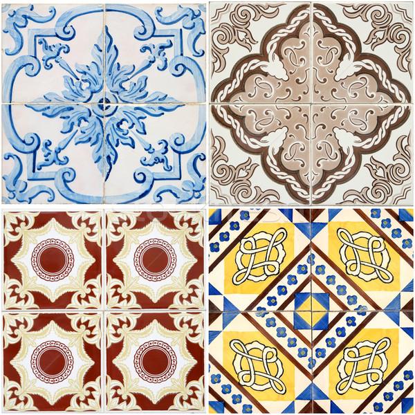 Vintage ceramica piastrelle colorato muro decorazione Foto d'archivio © homydesign