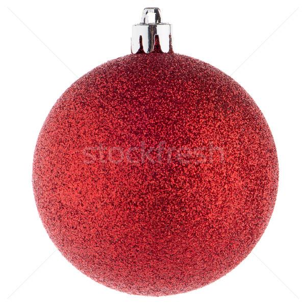 赤 クリスマス 安物の宝石 白 球 飾り ストックフォト © homydesign