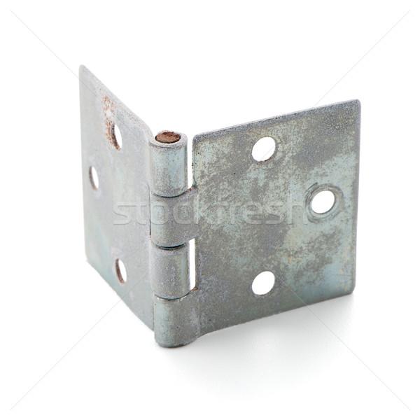 Porta dobradiça isolado branco casa livro Foto stock © homydesign