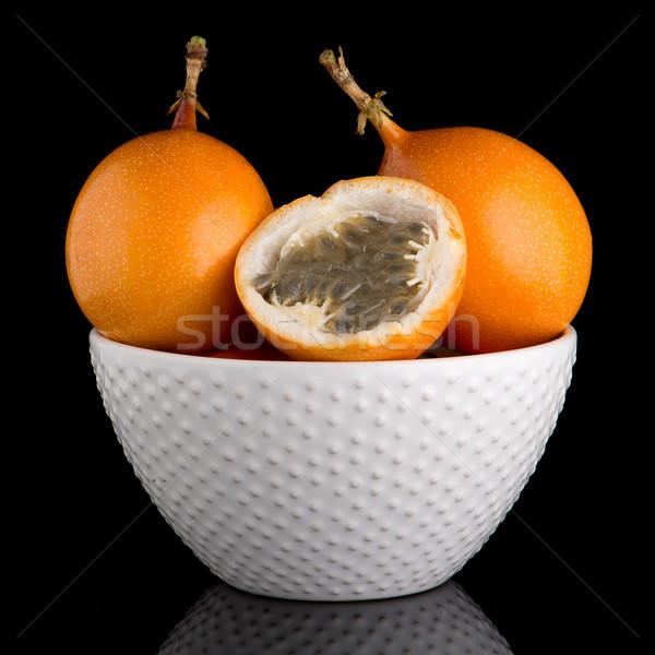 страсти фрукты керамической белый чаши черный Сток-фото © homydesign