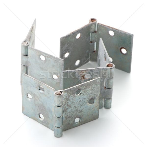 Stock photo: Four door hinges
