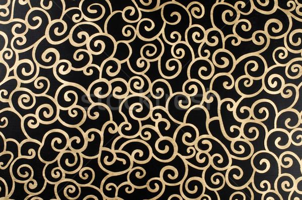 Golden abstract arabesque Stock photo © homydesign