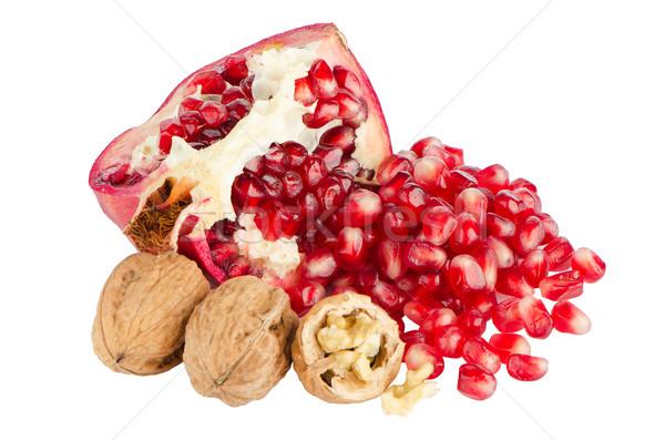 Stock photo: Half pomegranate fruit