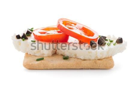 Pão casa de campo pormenor tomates preto Foto stock © homydesign