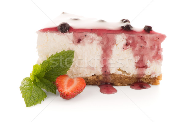 チーズケーキ スライス 白 食品 ケーキ 赤 ストックフォト © homydesign