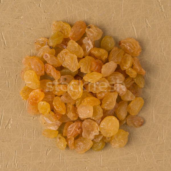 Círculo dourado passas de uva topo ver amarelo Foto stock © homydesign