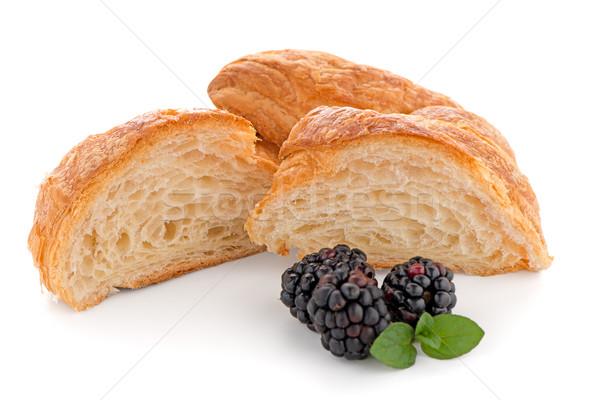 クロワッサン 新鮮な 白 食品 朝食 ストックフォト © homydesign