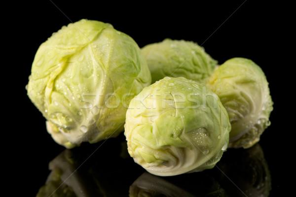 Friss Brüsszel izolált fekete étel zöld Stock fotó © homydesign
