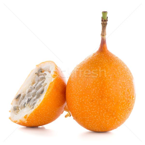 Leidenschaft Obst Essen orange tropischen gelb Stock foto © homydesign