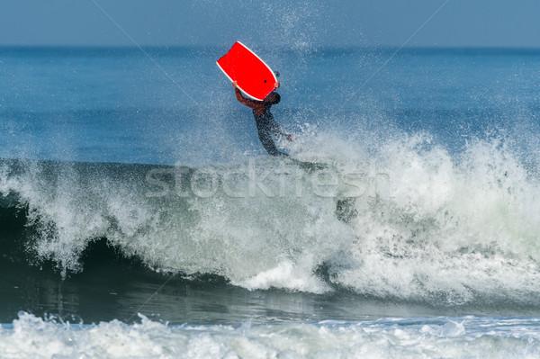 Bodyboarder in action Stock photo © homydesign
