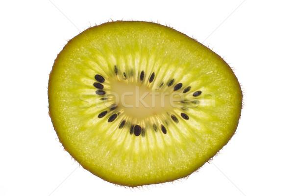 Close up of kiwi slice Stock photo © homydesign