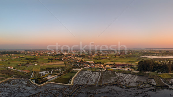 Aerial View of Monte at sunset Stock photo © homydesign