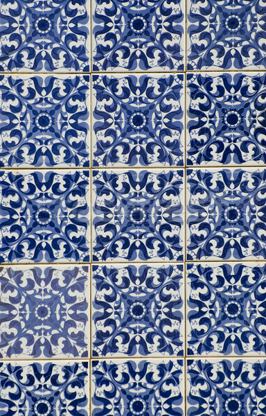 Portuguese glazed tiles Stock photo © homydesign
