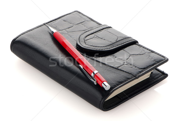Leather notebook Stock photo © homydesign