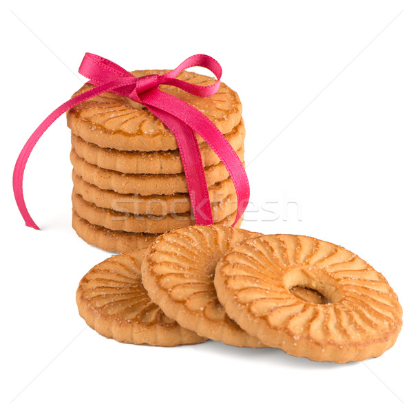 Festive wrapped rings biscuits Stock photo © homydesign