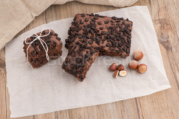 Stock photo: Tasty chocolate brownies