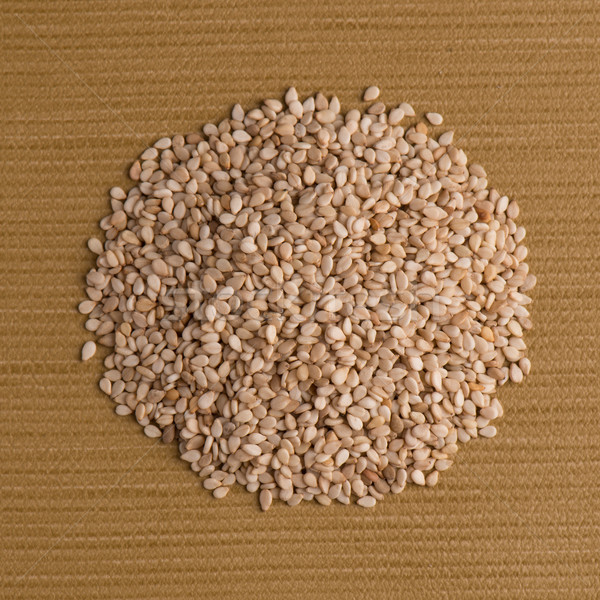 Circle of sesame seeds Stock photo © homydesign