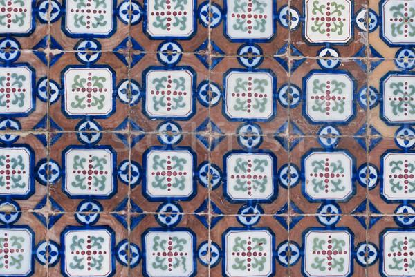 Portuguese glazed tiles 061 Stock photo © homydesign