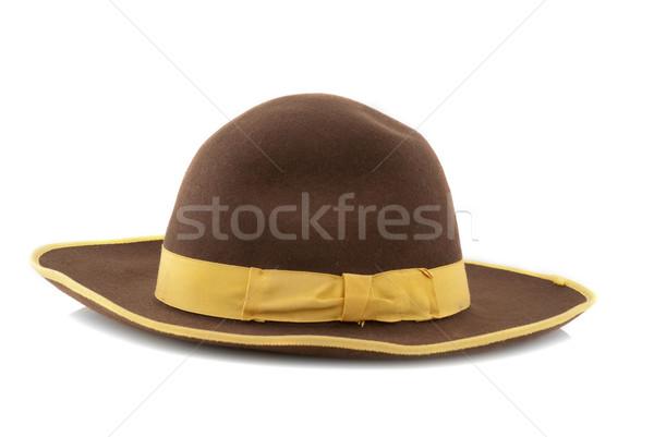 かかし ブラウン 帽子 黄色 ループ 孤立した ストックフォト © homydesign
