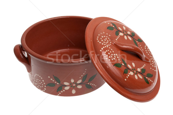 Clay pot for cooking Stock photo © homydesign