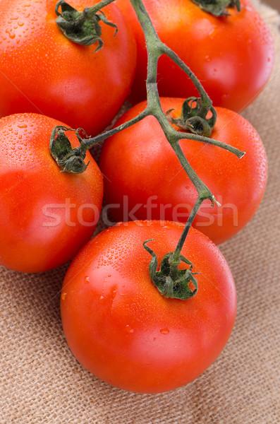 Tomates cherry vid alimentos salud rojo tomate Foto stock © homydesign