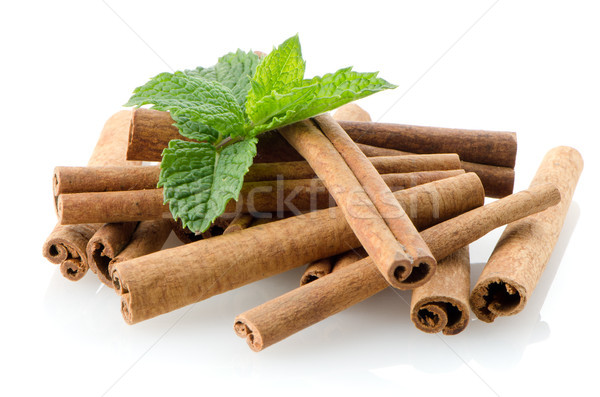 Cinnamon sticks Stock photo © homydesign