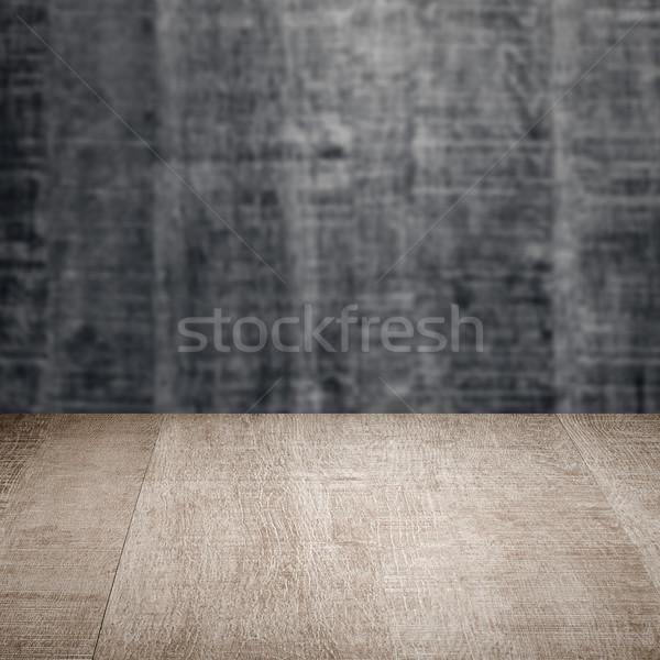 Hout tabel houten muur textuur frame Stockfoto © homydesign
